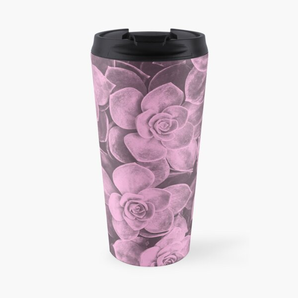 Pastel pink aloes Travel Mug