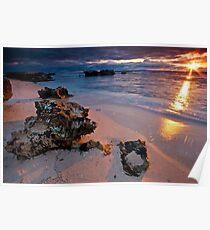 Last rays...Trigg Beach, Perth Poster