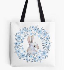 Bolsa de tela Conejo y corona floral