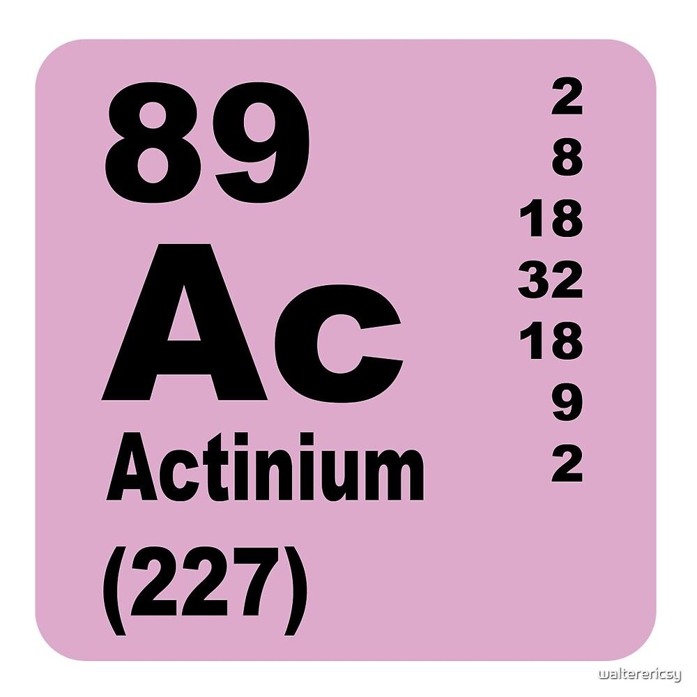 Actinium Periodic Table of Elements by walterericsy