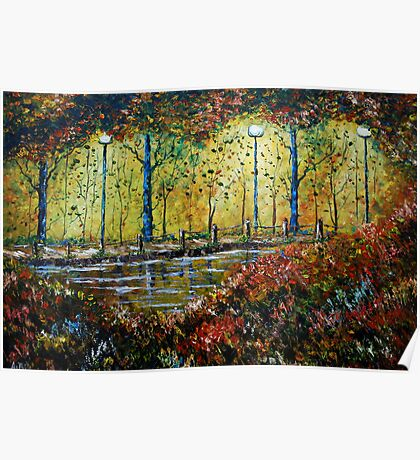 Autumn Path - Oil Painting Poster