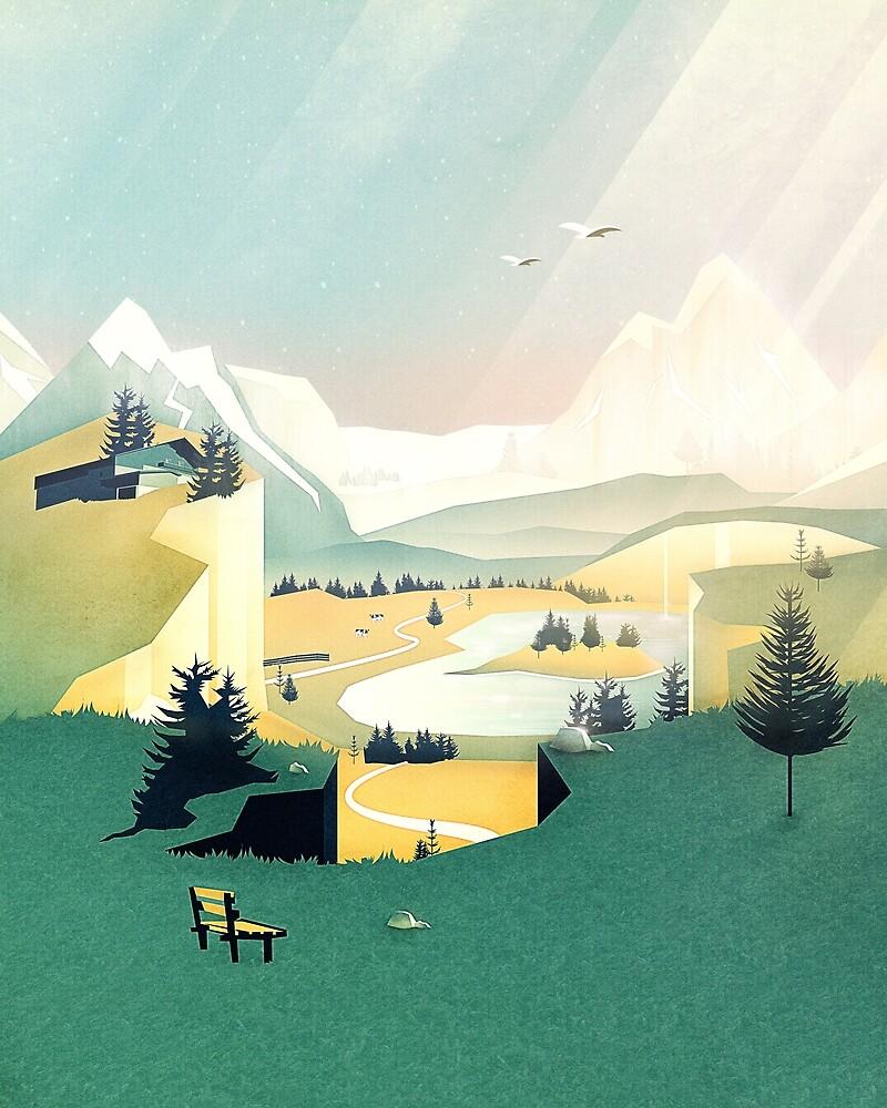 Mountain View by schwebewesen