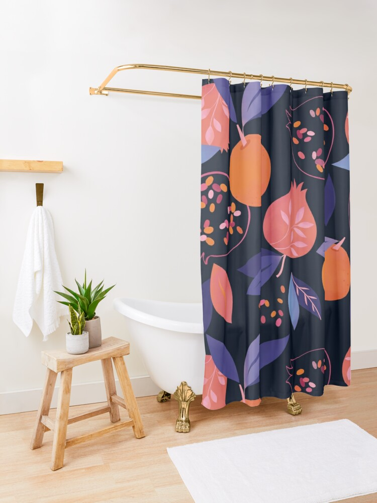 Alternate view of Fruit Gathering  Shower Curtain