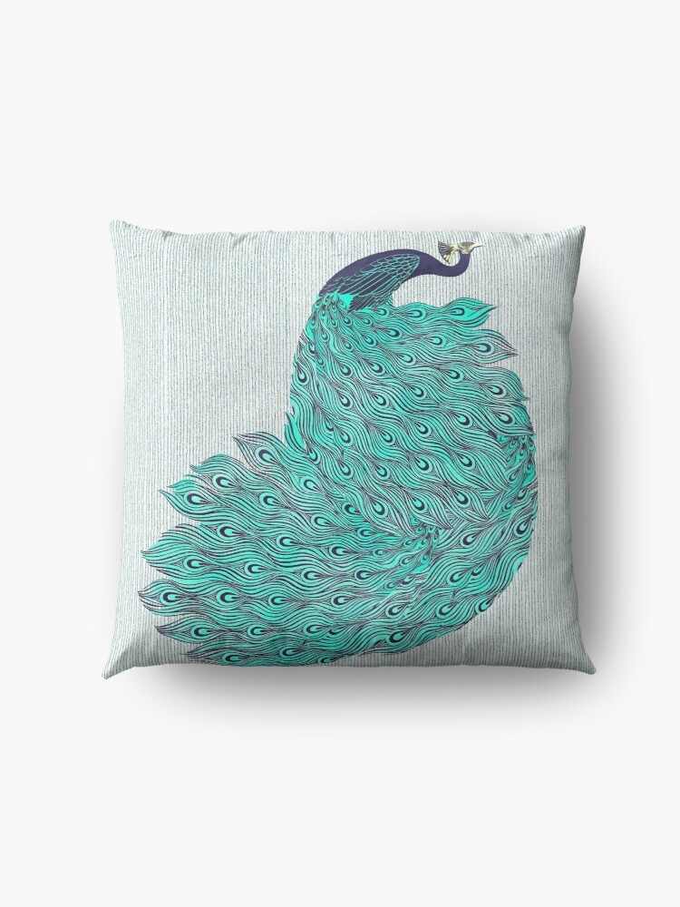 Alternate view of A very, very peacock Floor Pillow