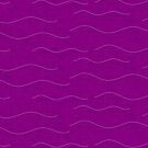 SHARK WHALE WAVES PURPLE by susycosta