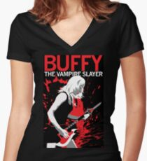 Buffy Rocks Women's Fitted V-Neck T-Shirt