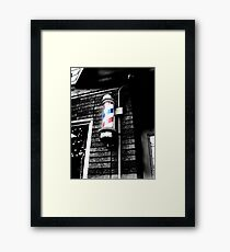 Barbershop in Little Italy  Framed Print