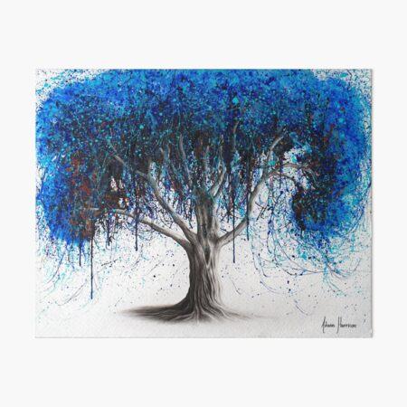 Blue Moonlight Tree Art Board Print