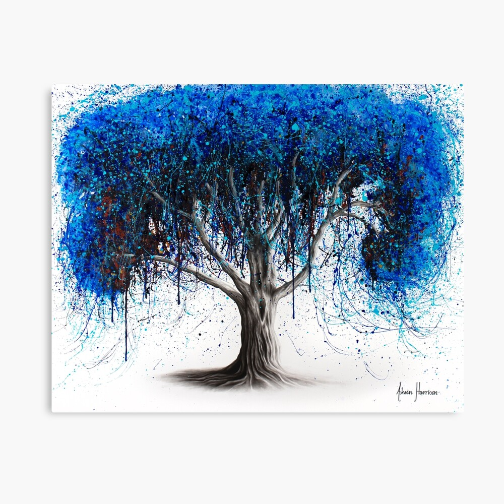 Blue Moonlight Tree Canvas Print