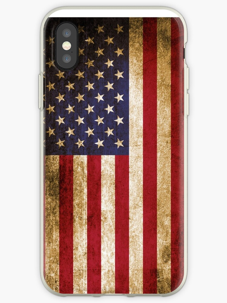 Vintage Patriotic Rustic American Flag by frittata