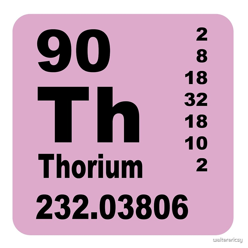 Thorium Periodic table of Elements by walterericsy