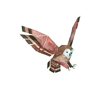 Low Poly Watercolor Owl by scarriebarrie