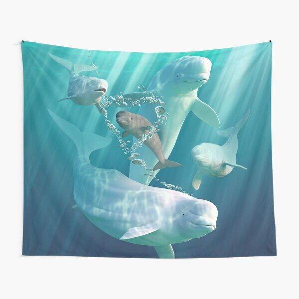 Beluga Bubbles Tapestry