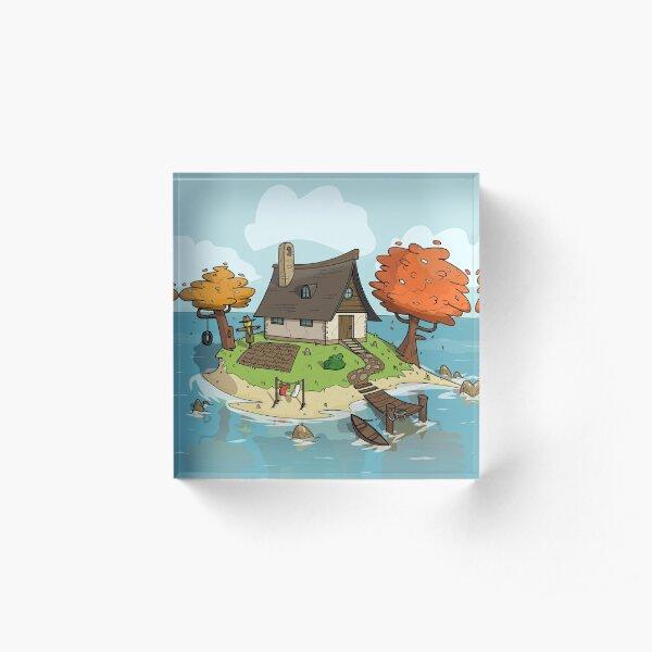 Island Home Acrylic Block