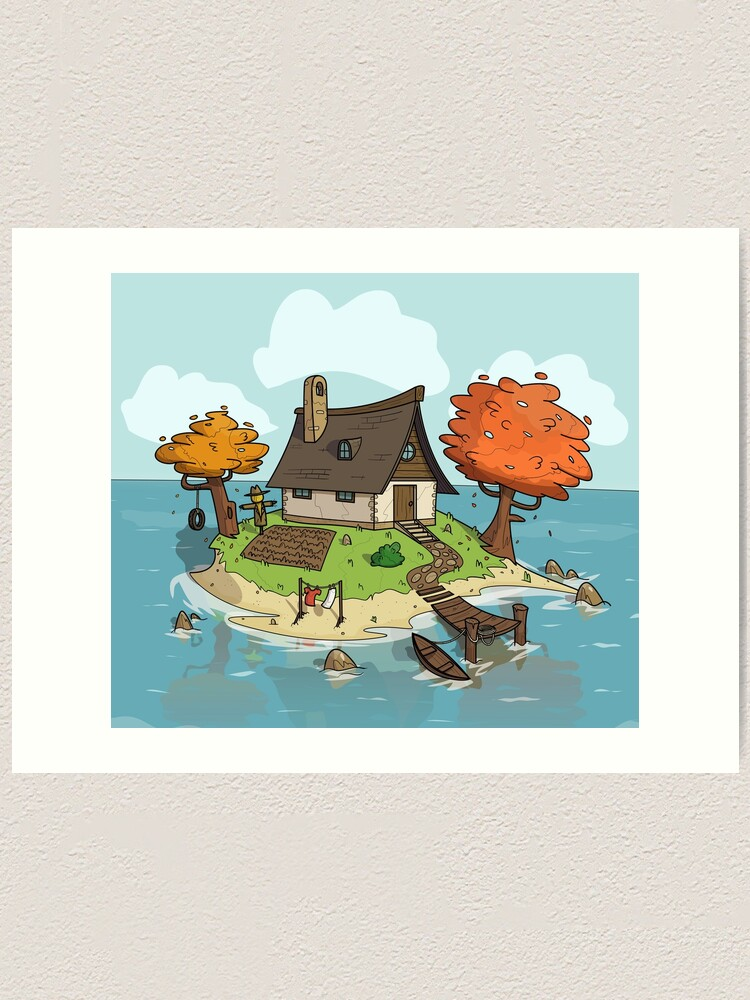 Alternate view of Island Home Art Print