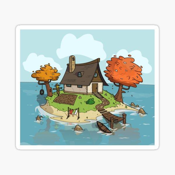 Island Home Sticker