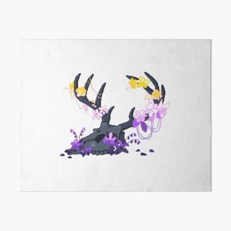 Non-binary Deer Pride Skull (requested) Art Board Print