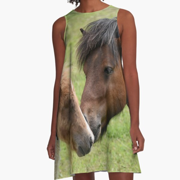 Passion for animal Horses  A-Line Dress