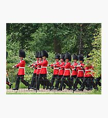 Soldiers marching through the park Photographic Print