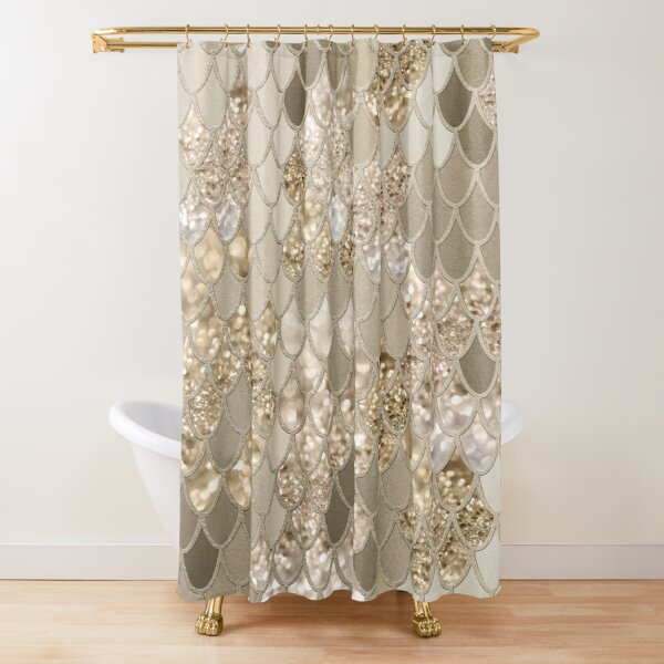 Mermaid Glitter Scales #5 (Faux Glitter) #shiny #decor #art  Shower Curtain