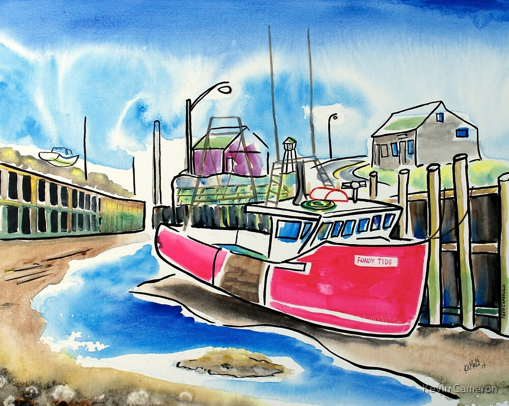 Fundy Tide Hall's Harbour by Kevin Cameron