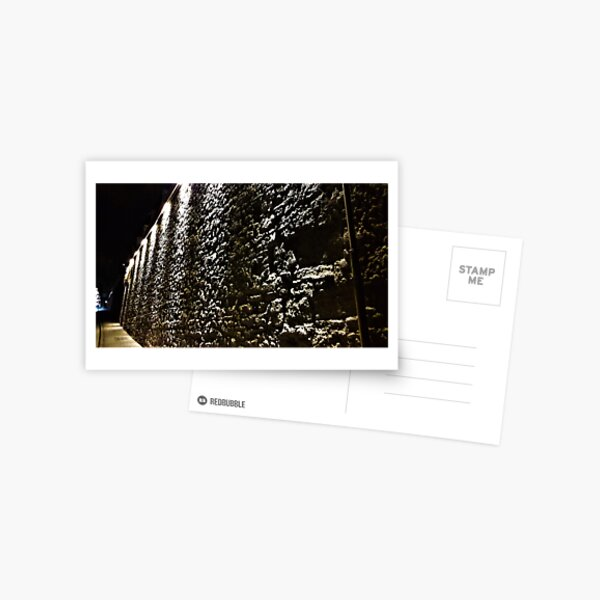 Stone Wall Illumination Postcard