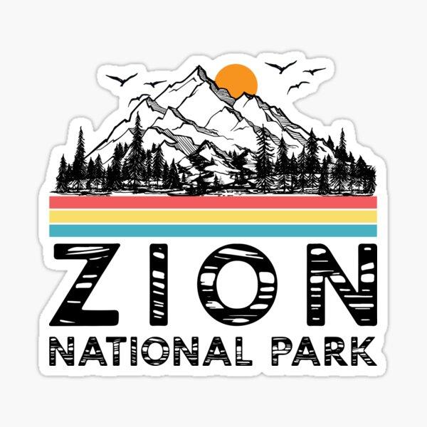 Vintage Zion National Park Retro Utah Mountain T-Shirt Sticker