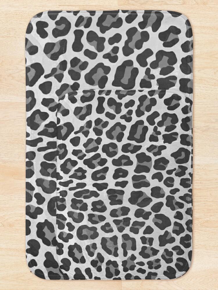 Alternate view of Leopard Gray and Light Gray Print Bath Mat