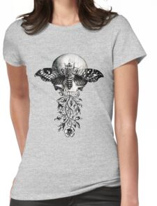 Metamorphosis Design on White, Red, Light Colors Womens Fitted T-Shirt