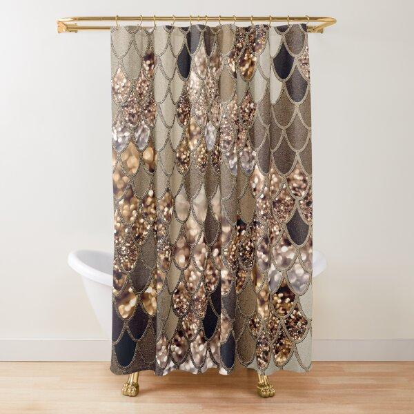 Mermaid Glitter Scales #6 (Faux Glitter) #shiny #decor #art Shower Curtain
