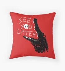 See You Later, Alligator Throw Pillow