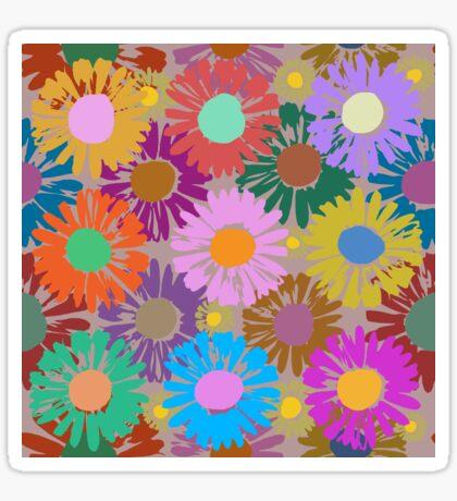 Polka Pop Daisies Glossy Sticker