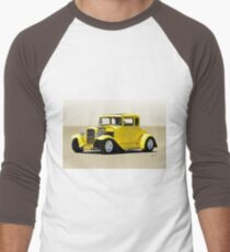1930 Ford Model A Coupe Men's Baseball ¾ T-Shirt