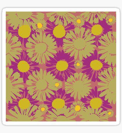 Polka Popped Daisies Glossy Sticker