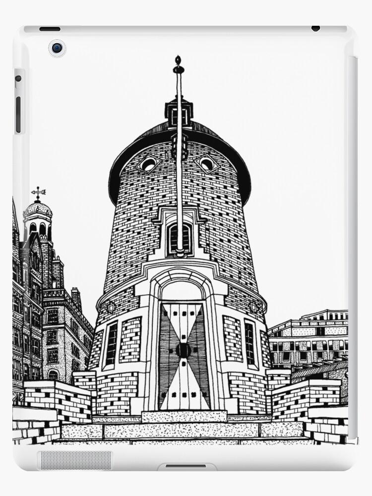'Harvard Lampoon Building, Cambridge Drawing' iPad Case/Skin by Conor  Plunkett