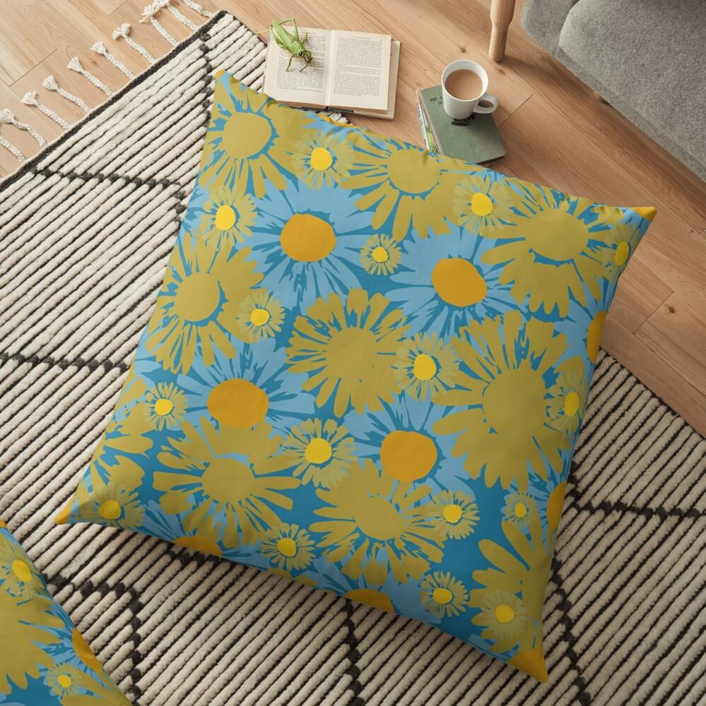 Pop Polka Daisies Floor Pillow