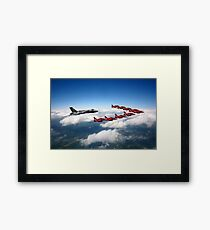 Flying with XH558 and The Reds Framed Print