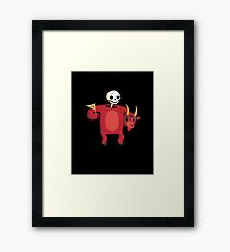 Mascot From Hell Framed Print