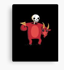 Mascot From Hell Canvas Print