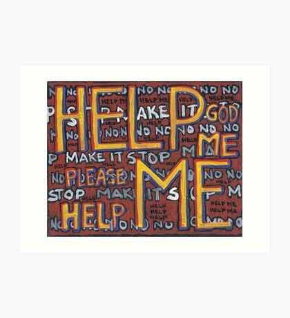 HELP ME - God, Help Me! - Brianna Keeper Painting Art Print