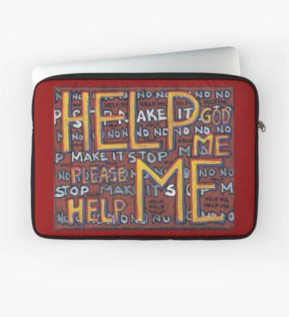 HELP ME - God, Help Me! - Brianna Keeper Painting Laptop Sleeve