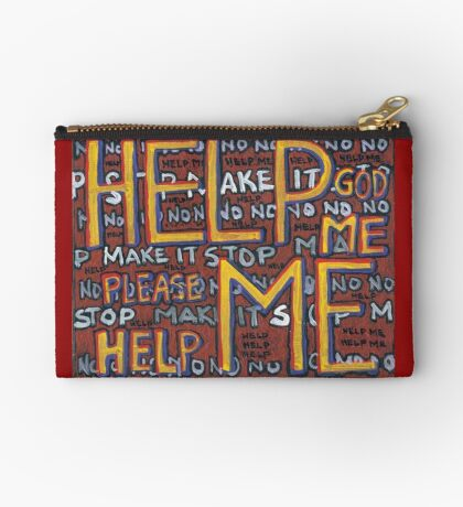 HELP ME - God, Help Me! - Brianna Keeper Painting Zipper Pouch