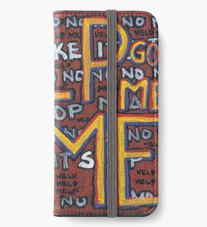 HELP ME - God, Help Me! - Brianna Keeper Painting iPhone Wallet