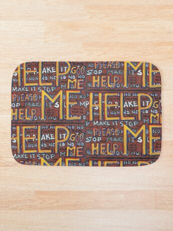 HELP ME - God, Help Me! - Brianna Keeper Painting Bath Mat