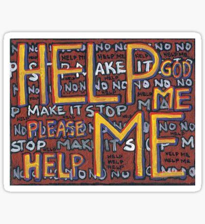 HELP ME - God, Help Me! - Brianna Keeper Painting Sticker