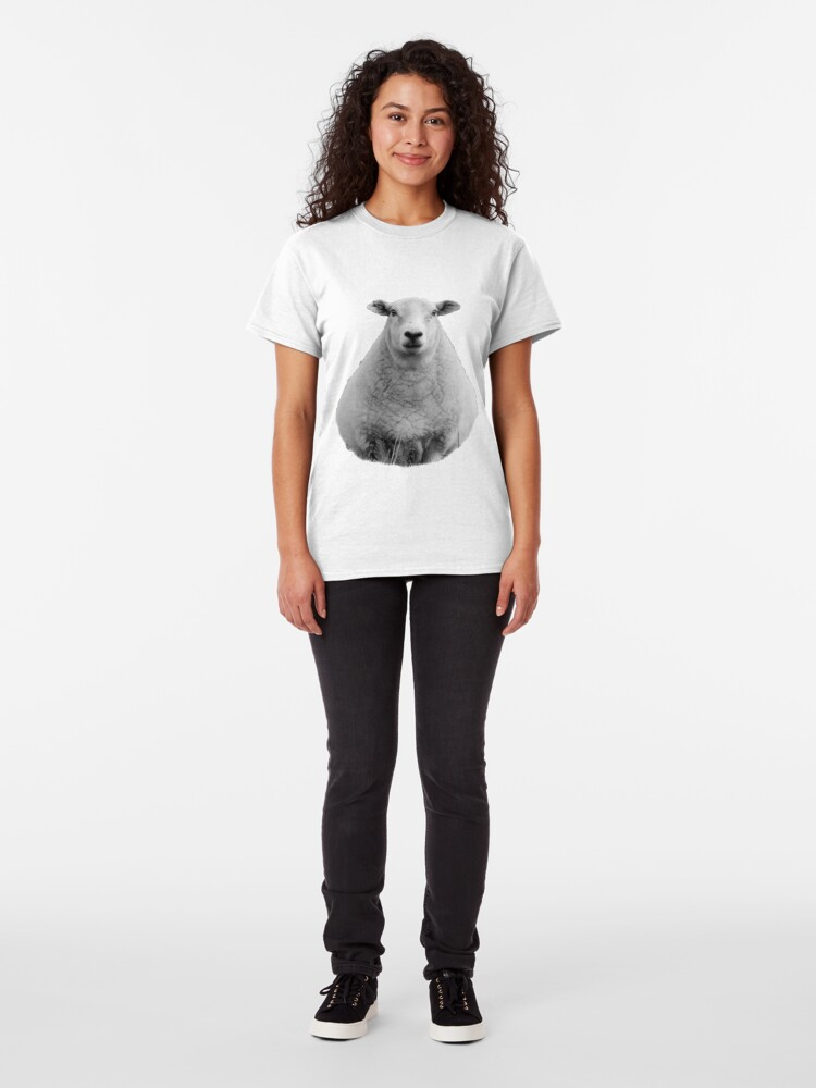 Alternate view of Black and White Sheep in Field Classic T-Shirt