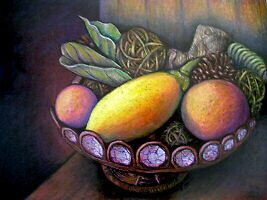 Fruit Bowl Still Life by iartistbynature