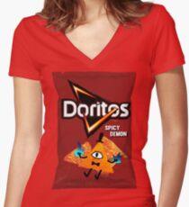Bill Cipher Demon Doritos Women's Fitted V-Neck T-Shirt