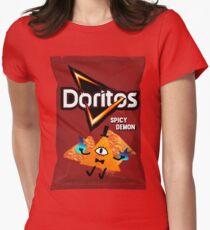 Bill Cipher Dämon Doritos Tailliertes T-Shirt für Frauen