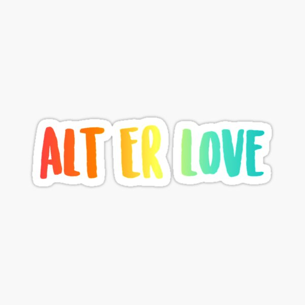 Alt Er Love (arc-en-ciel) Sticker